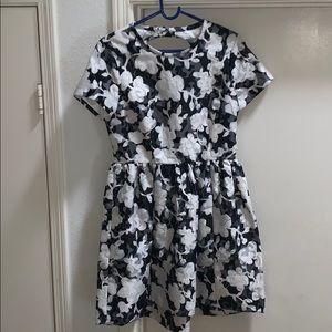 Kate Spade Graphic Floral Lace Black White Dress 4